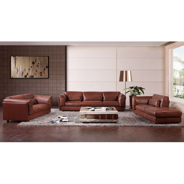 Luxury wood lounge 7 seater sectional big real cow leather sofa italian heated fancy modular sofa living room furniture modern
