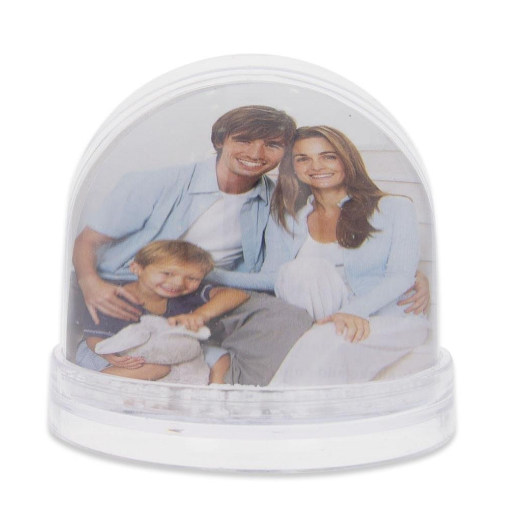 Customized picture frame snowglobe photo snow globe