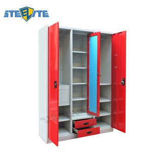 Modern Design Creative Product Steel Or Iron Wardrobe Design, Folding Cupboard, Metal Wardrobe Cabinets For Sale