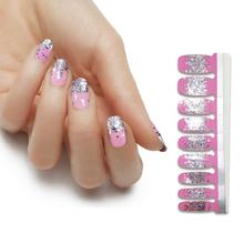 Hot Selling Stickers Non-toxic 100% real nail polish nail design stickers