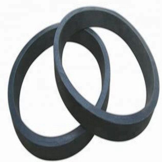 "Concrete Pump Pipe 5"" Rubber Gasket With Lip for Pipe Clamp and Flange"