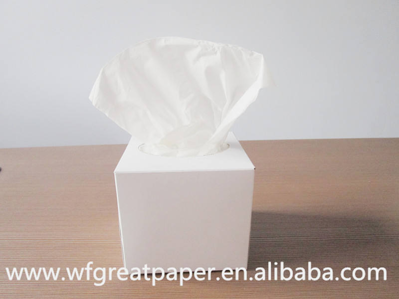 Facial tissue wholesalers square cube box folded christmas tissue paper 100sheets/box comfort