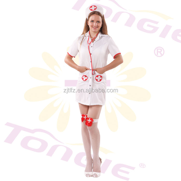 Wholesale high quality Japanese nurse costume halloween japanese sexy nurse uniform for women