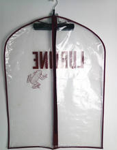 Wholesale Clear Transparent Plastic Garment Bags/Suit Cover With Customs Logo