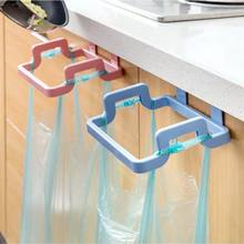 Kitchen door back portable garbage bag bracket Home cabinet door rag hanging rack trash rack
