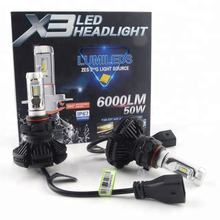 Best price Factory supply X3 G7 car head light high quality 50w 6000lm t3 led bulb led car lamp for universal car