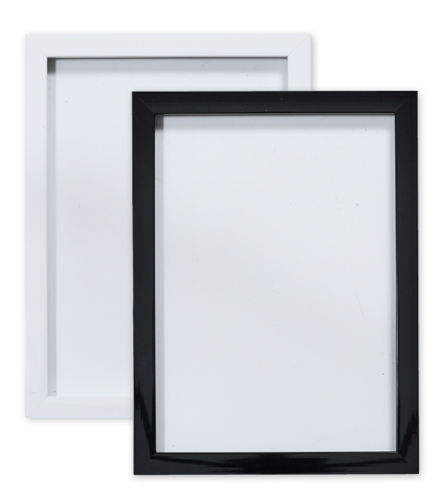 "BLACK / WHITE GLOSS Picture frame photo frame poster frames A4, A3, 8"" x 8"""