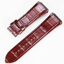 Amazon Hot selling luxury brown belt leather watch strap  Real leather band for watch