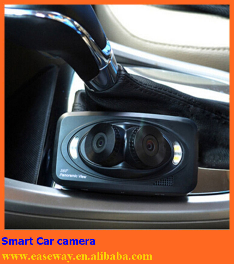 h6000 night vision infrared car camera , 3 lens Dash cam car camera detection manual car camera hd dvr gps