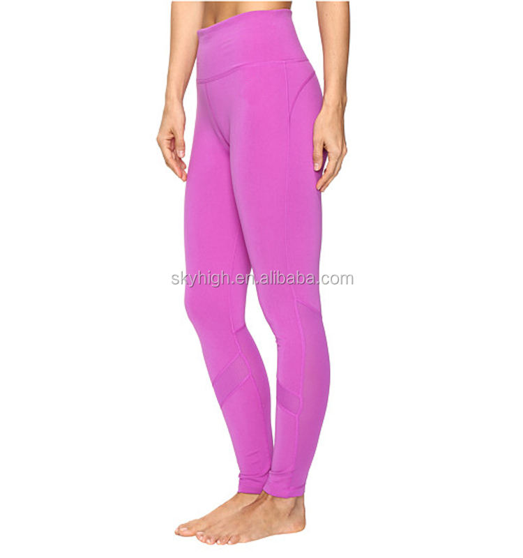 OEM Gym Bekleidung Frauen Fitness Strethy Rosa Engen Leggings Push-Up Komfortable Yoga Hosen