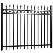 Best quality solid black cheap wrought iron fence panels for sale