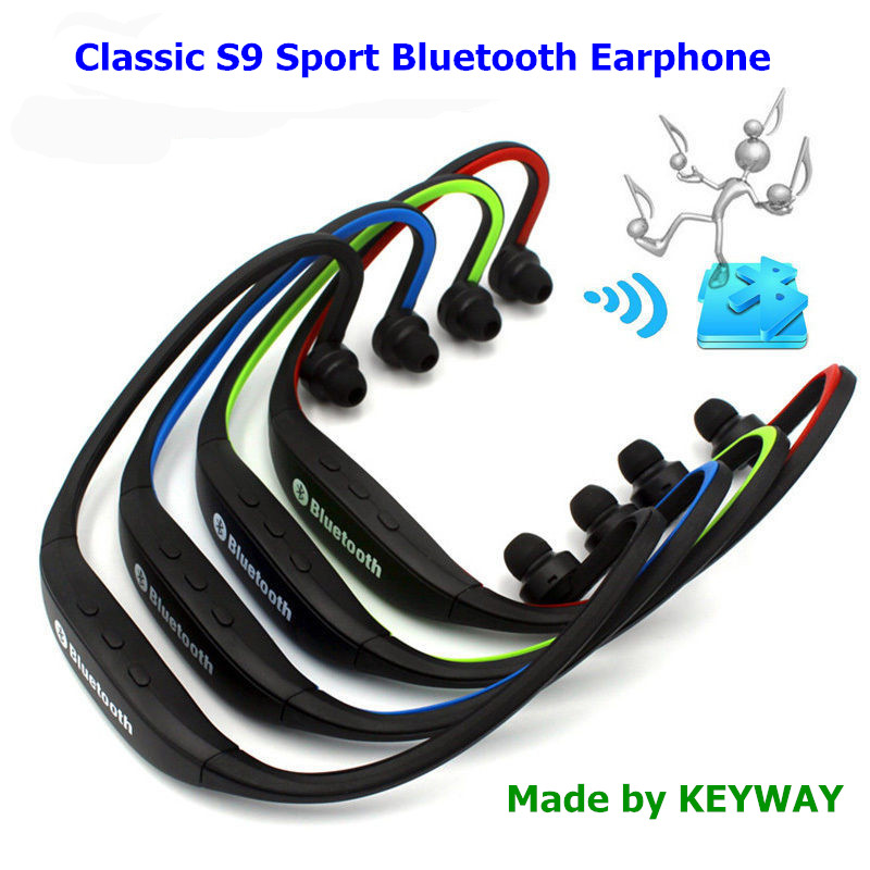 Cổ điển In-Ear Stereo Thể Thao S9 Bluetooth Tai Nghe Cho Chạy V4.0 Earbuds headphone