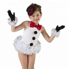 children role playing snowman tutu dress white ballet tutu dance dress stage performance dance wear