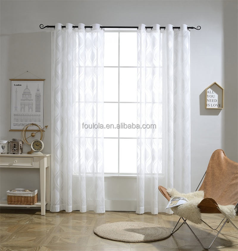 Ready Made Sheer Curtain 96 inch length Curtain Voile Sheer Curtain Panels