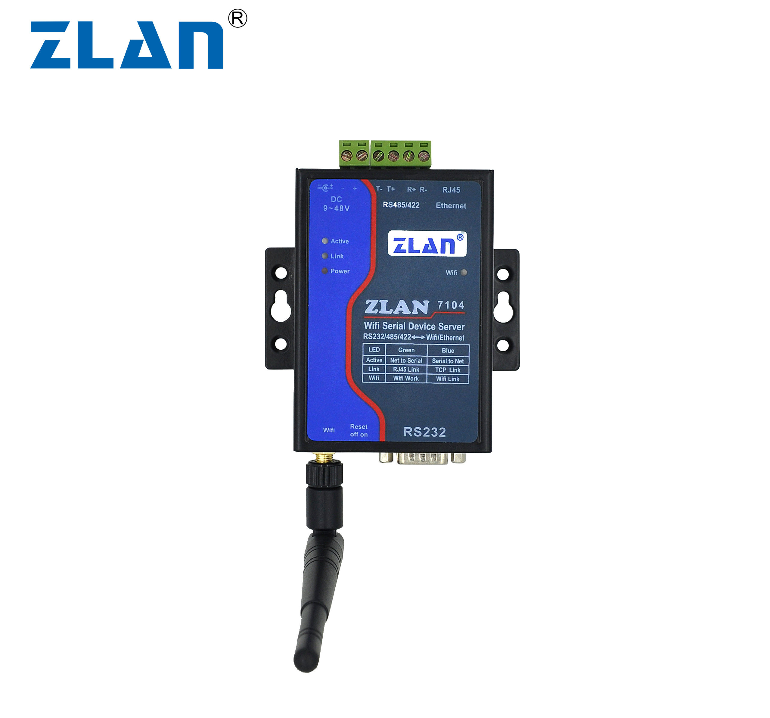 ZLAN7104 modulo WIFI RJ45 Ethernet a RS232 RS485 RS422 Convertitore wireless Serial Device Server