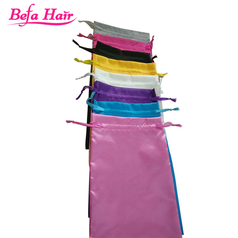Custom logo silk satin bags hair/satin hair packaging pouches