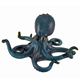 Custom made handmade carved hot new products Resin octopus figurine