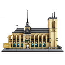 WANGE notre dame cathedral 3D plastic building blocks toys