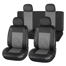 Full Set Black and Grey Leader Seat Cover For Car