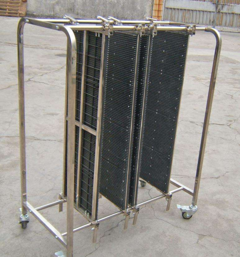 2020NEWESD Stainless Steel Trolley / ESD Turnover Cart / Antistatic PCB Plates Storage Trolley