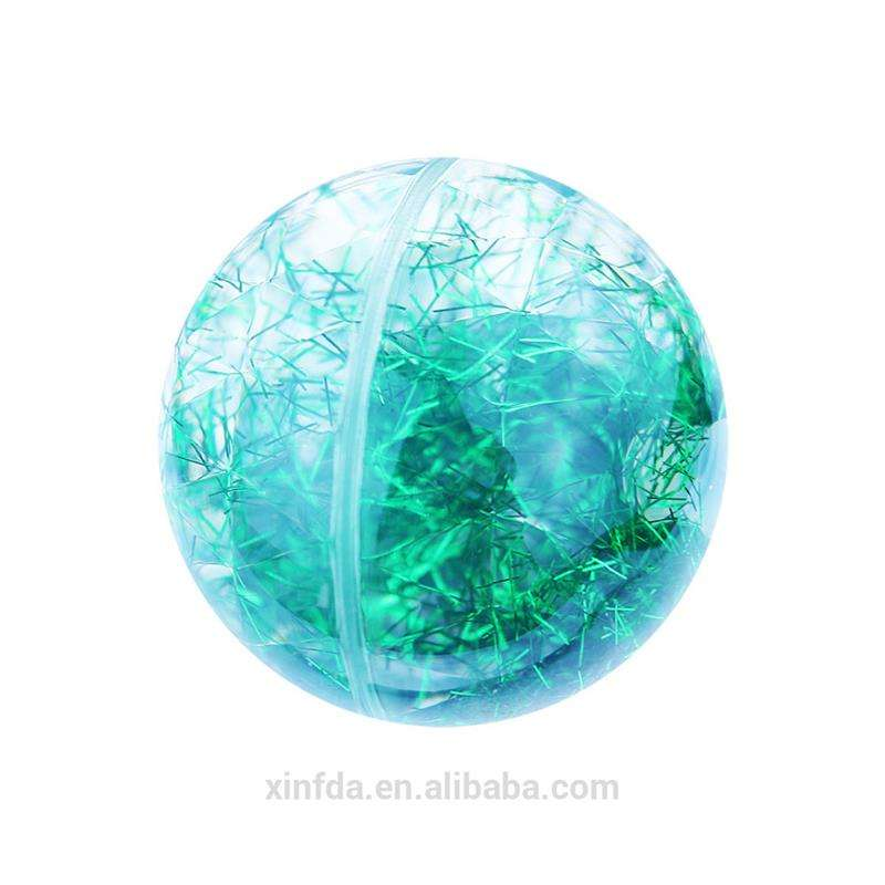 Hot Sale Toy Ball Diamond Surface 55mm LED Flashing Water Bouncy Ball
