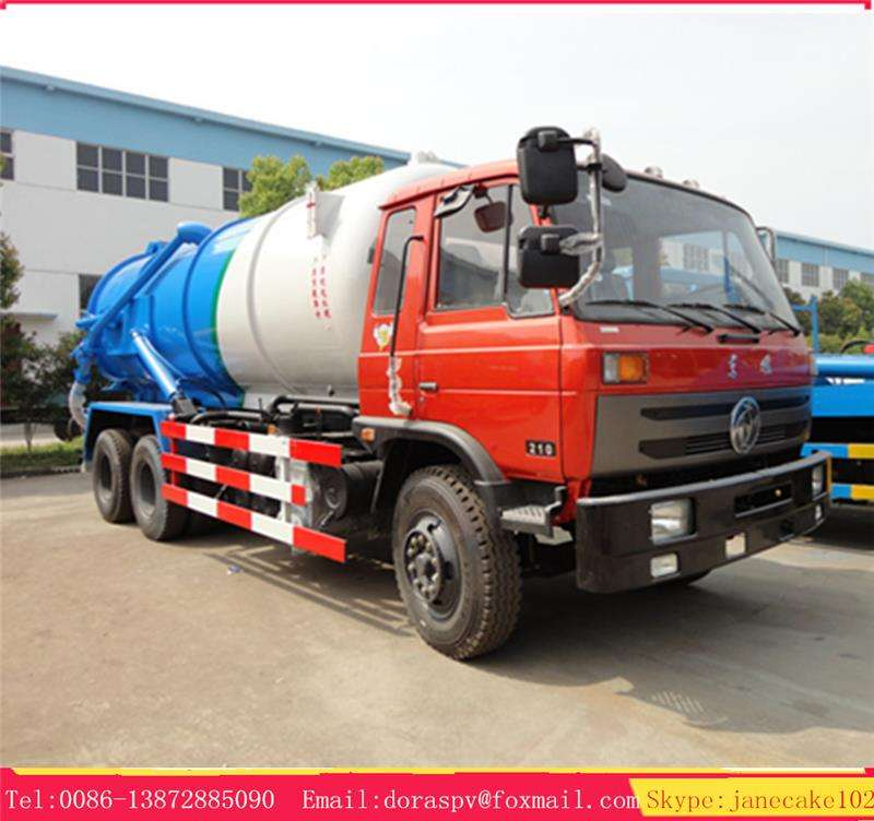 Dongfeng 6*4 10 wheeler 16 18 cubic meters waste water sewer cleaning truck for sewage suction