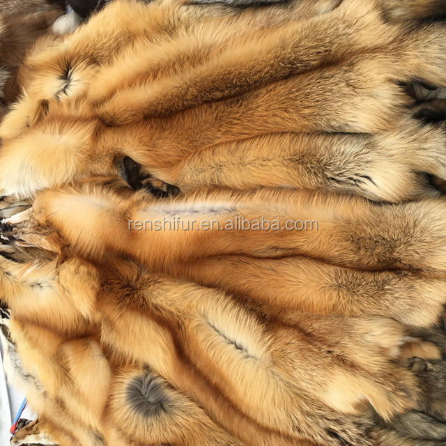China Real Fox Skin Plate Coat Material Fox Fur Material