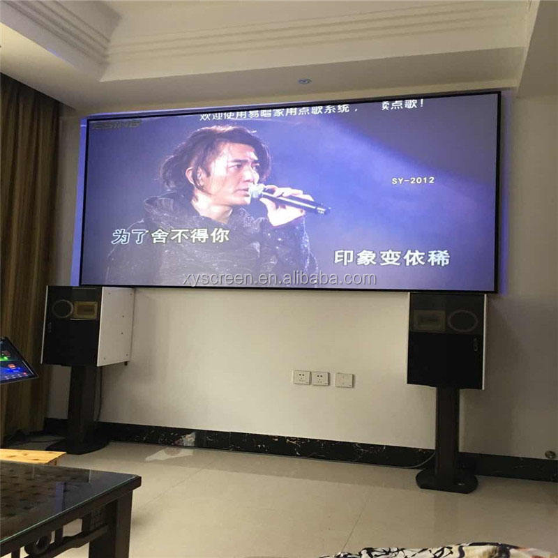 3m 1080p projector screen ,home theater fixed frame projection screen on sale