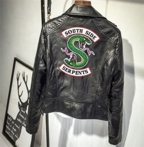 Southside serpents Riverdale PU Leather Jackets costume Women Riverdale Streetwear Leather south side serpents outwear
