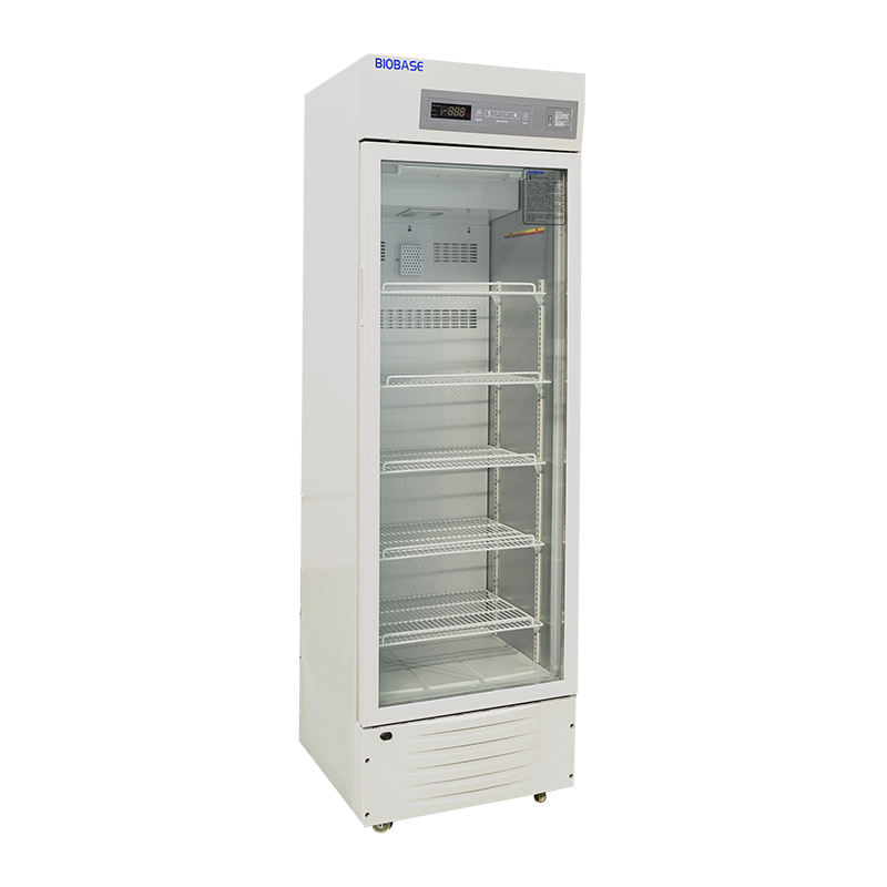 BIOBASE China 2 to 8 Degree Glass Door Laboratory Pharmacy Refrigerator