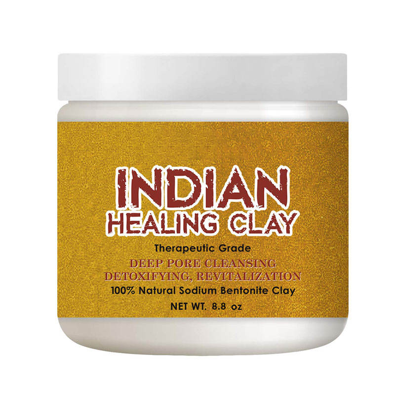 Healing Clay for Body Hair Face Mask Private Label Deep Pore Cleansing Indian Customized Package Crystal Skin Care Product