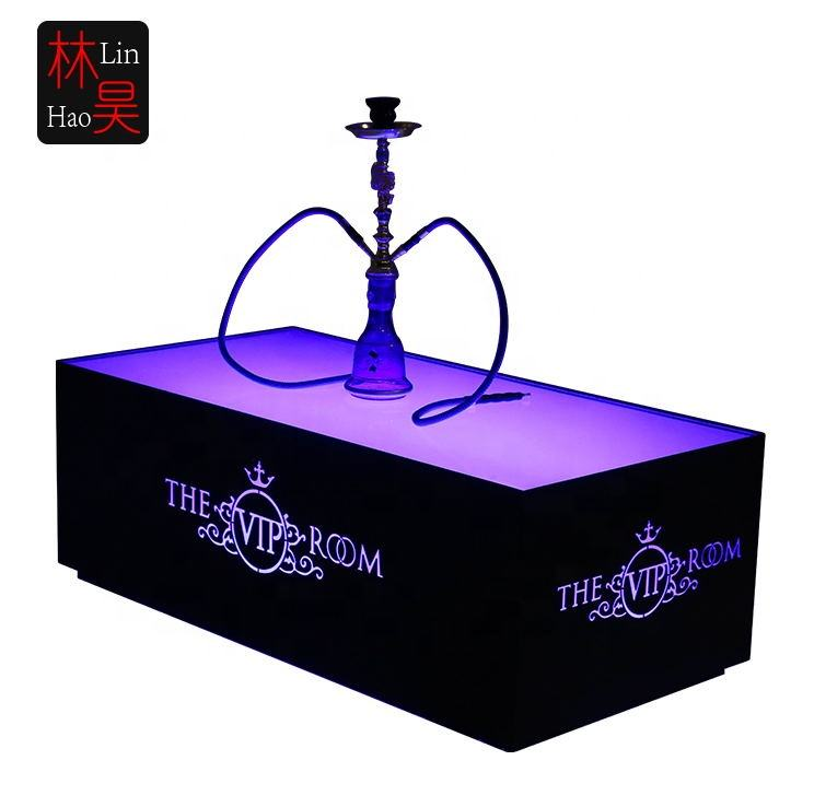 Linhao Cool bar furniture/ nightclub/ KTV/ night club/led cube table wholesale hookah lounge furniture