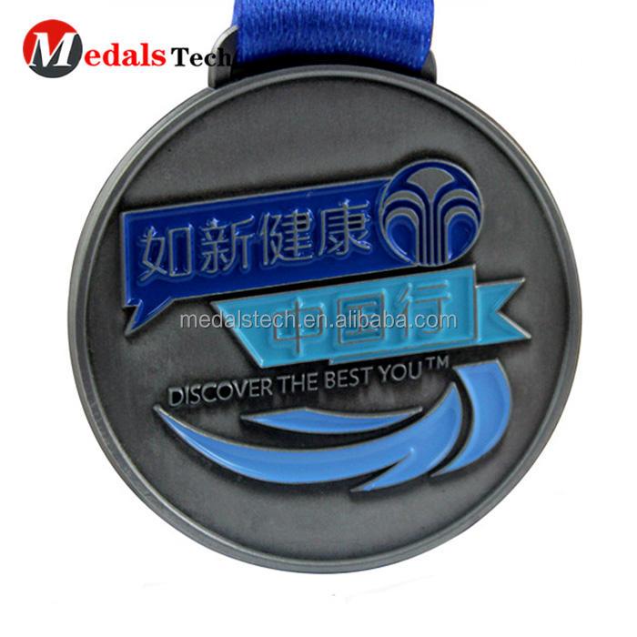 Çinko alaşımı özel made antik kalaylı kalıp kesim spor madalya