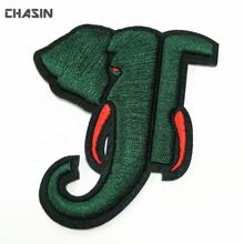Custom 3d puff embroidery animal elephant patches for clothes no minumum