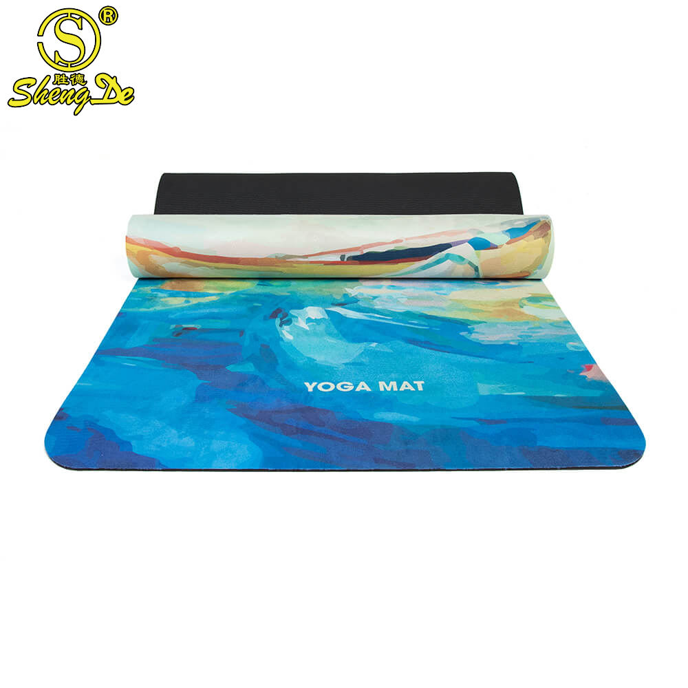 Eco friendly microfiber suede yoga mat cover