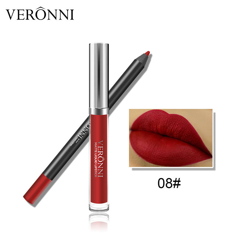 VERONNI 13 Colors Liquid Lipstick And Lip Liner Kit Matte Lipstick Kit Natural Lip Gloss Private Label Waterproof