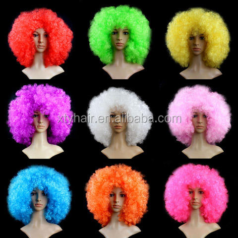 Cheap beaurty synthetic cosplay wig colorful party wigs, party plastic wig