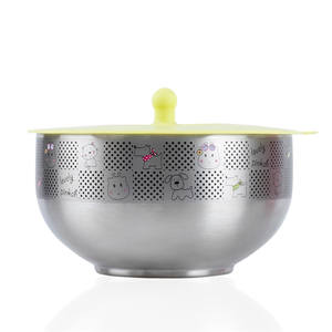 Pinkah new product 360ml keep hot and cold double wall vacuum thermal insulated stainless steel kids food bowl