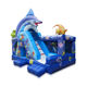 Giant Inflatable combo bouncer with a big slide inflatable bouncer castle