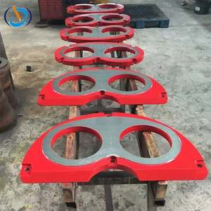 schwing concrete pump spare parts wear plate and wear ring