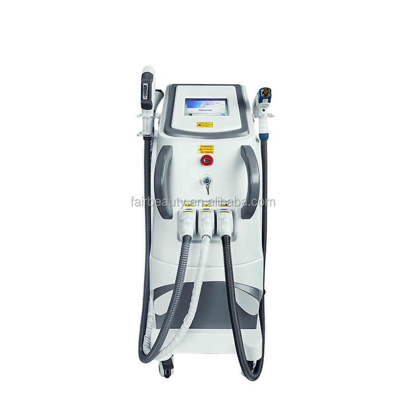 Newest 3 in 1 multifunctional Beauty Machine high quality opt laser hair removal + picosecond + RF