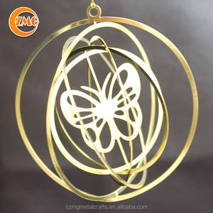 wholesale cheap Christmas brass metal butterfly ornament