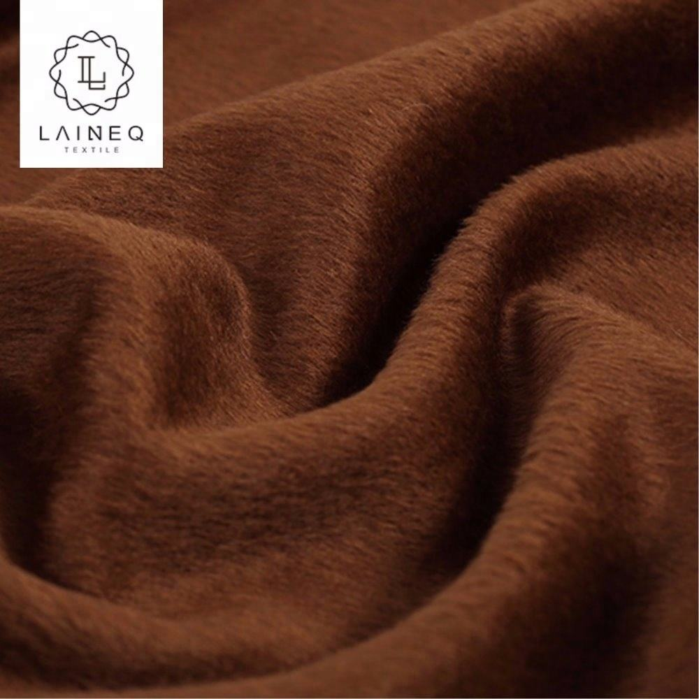 2019 Best selling popular double-sided coat plain Alpaca Merino wool fabric