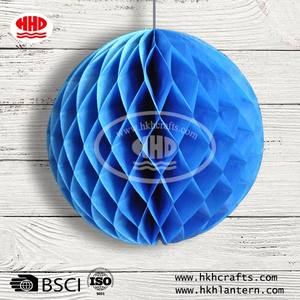 Hot Selling Event   Party Items Paper Craft Honeycomb Ball for Fiesta Decoration in Assortment Colors