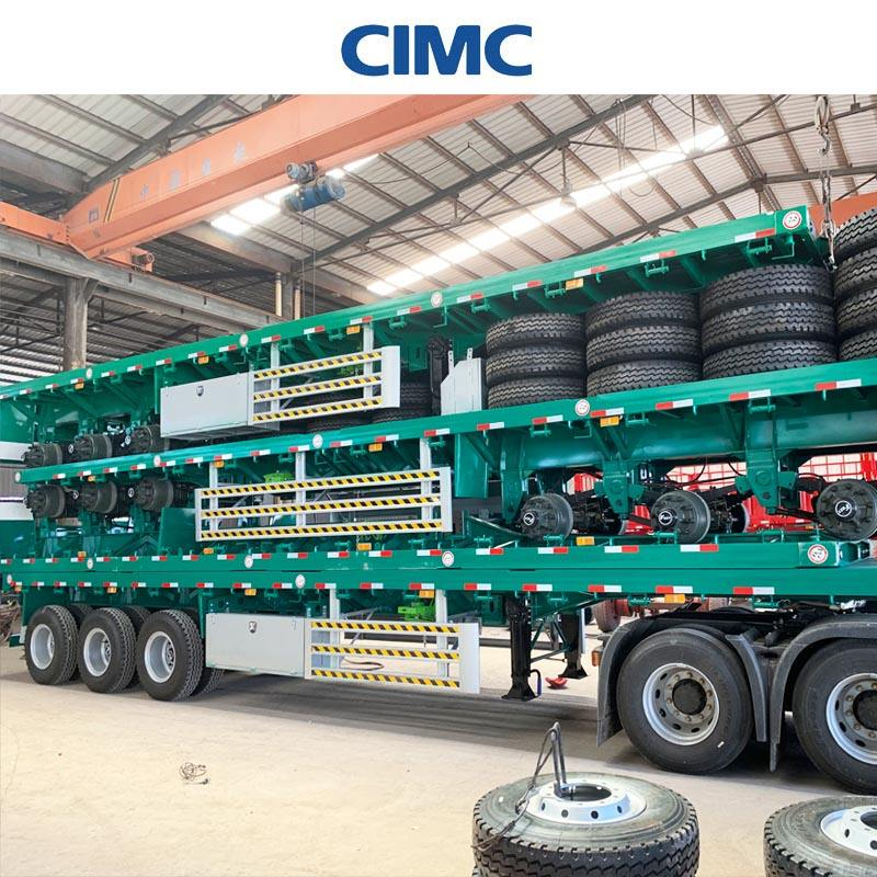 CIMC Dongyue 20ft container xe tải trailer bán và 20ft phẳng móc kéo container trailer