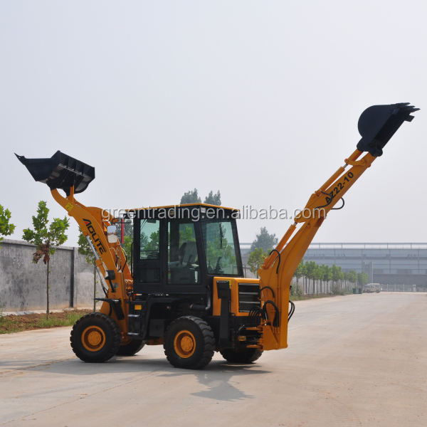 Brand New case backhoe loader price in China 4 wheel drive with hydraulic hammer