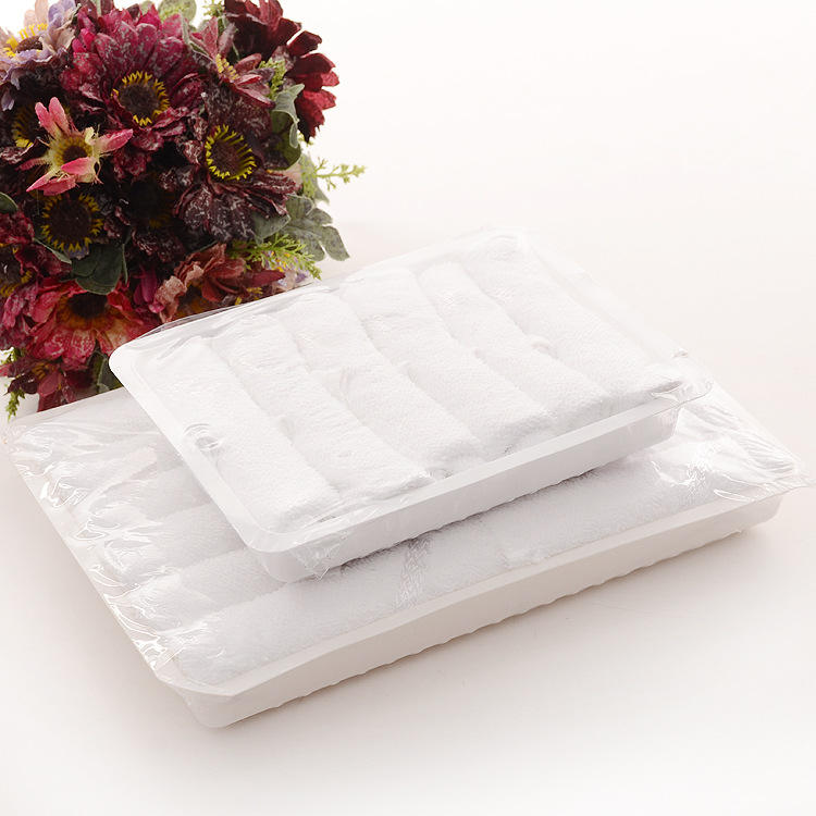 Hot Selling Perfumed Disposable Cotton Airline Hot Towels 22g 10pcs per Tray