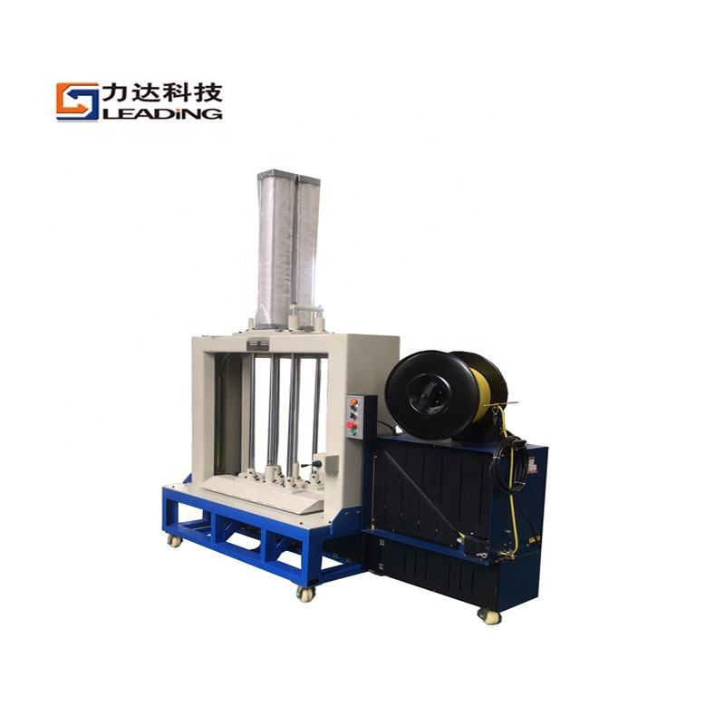 Automatic Strapping Machine Pneumatic PET PP Textile Towel Fabric Woven Bag Press and Baling Machine