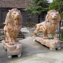 life size decorative stone marble lion sculpture for bank hotel home park outdoor