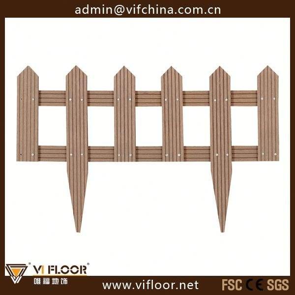 columna de madera material de la valla del jardín